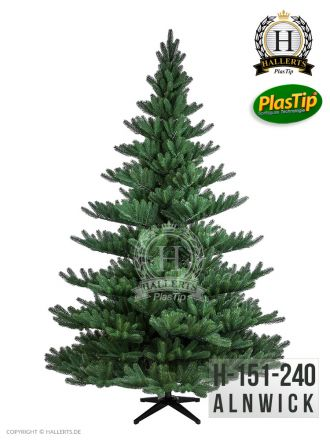 künstlicher Spritzguss Weihnachtsbaum PREMIUM Nordmanntanne Alnwick ca. 240cm